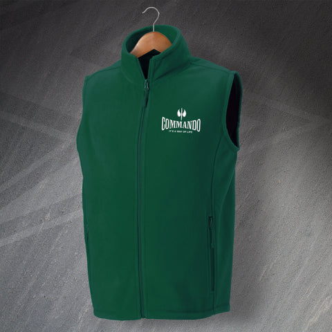 Commando Fleece Gilet Embroidered It's a Way of Life