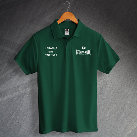 Commando Polo Shirt Printed Personalised It's a Way of Life