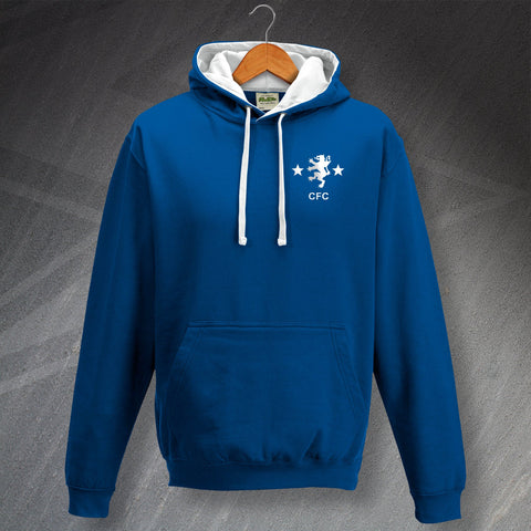 Cove Rangers Football Hoodie Embroidered Contrast 1982