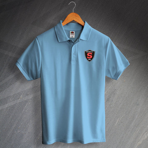 Retro Coventry Polo Shirt with Embroidered Singers 1890 Badge