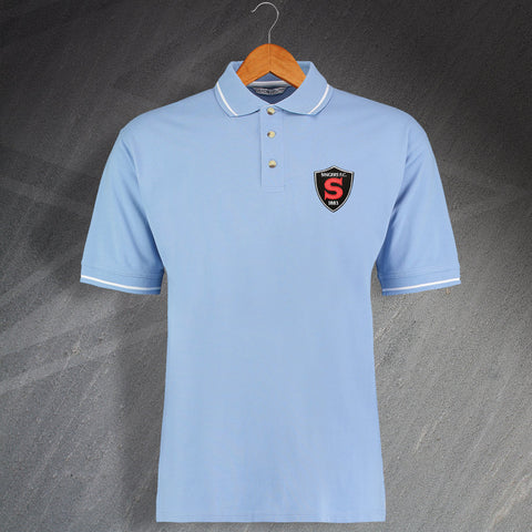 Coventry Football Polo Shirt Embroidered Contrast Singers FC