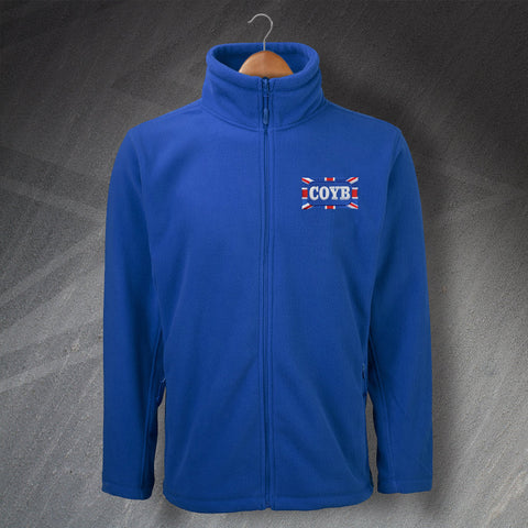 Blues Embroidered Fleece