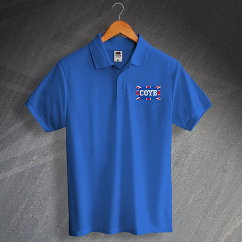Chelsea Football Polo Shirt Embroidered COYB Union Jack