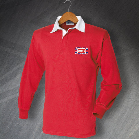 Arsenal Football Shirt Embroidered Long Sleeve COYG Union Jack