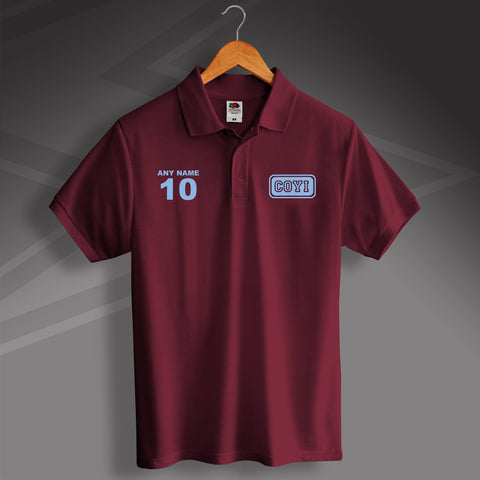 COYI Printed Polo Shirt Personalised with Name & Number
