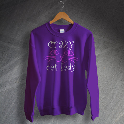 Crazy Cat Lady Face Sweatshirt
