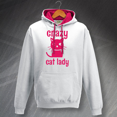 Crazy Cat Lady Contrast Hoodie