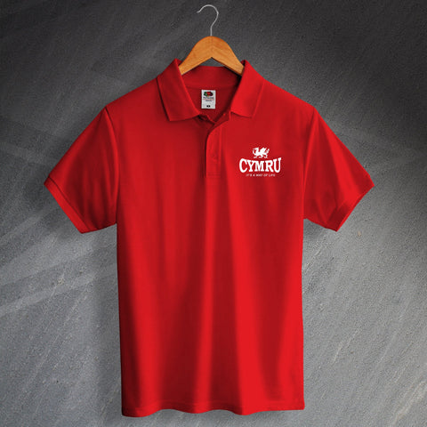 Cymru It's a Way of Life Polo Shirt