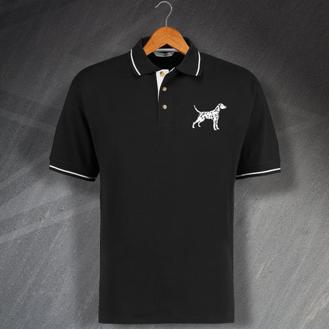 Dalmatian Embroidered Contrast Polo Shirt
