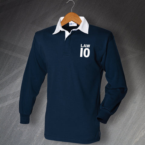 Scotland Football Shirt Embroidered Long Sleeve Law 10