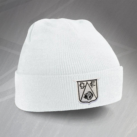 Derby Football Beanie Hat Embroidered 1946