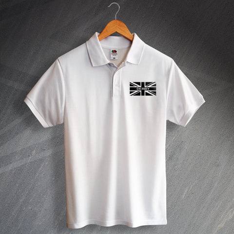 Derby Football Polo Shirt Printed Union Jack