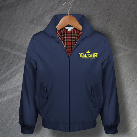 Derbyshire Harrington Jacket Embroidered Derbyshire It's a Way of Life