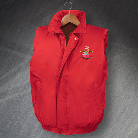 Devonport Field Gun Crew Embroidered Padded Body Warmer
