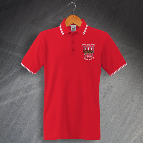 Arsenal Football Polo Shirt Embroidered Tipped Dial Square