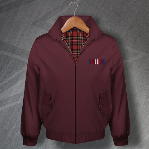 Diamond Jubilee Medal Bar Embroidered Classic Harrington Jacket
