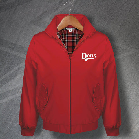 Aberdeen Football Harrington Jacket Embroidered Dons
