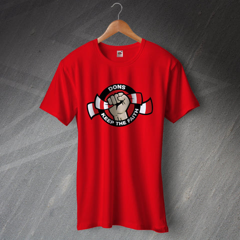 Aberdeen Football T-Shirt Dons Keep The Faith