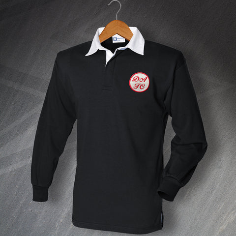 Retro Dunfermline Long Sleeve Football Shirt with Embroidered Badge