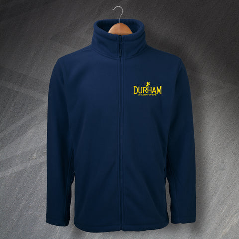 Durham Cricket Fleece Embroidered It's a Way of Life