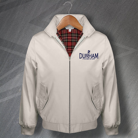 Durham Cricket Harrington Jacket Embroidered It's a Way of Life