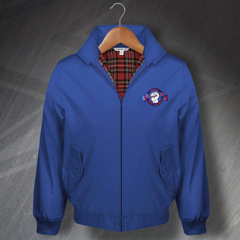 Crystal Palace Football Harrington Jacket Embroidered Eagles Keep The Faith