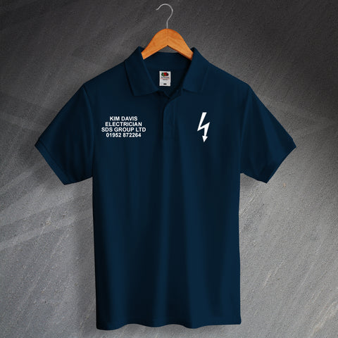 Electrician Polo Shirt Personalised Name & Company Details