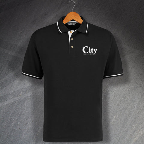 Elgin Football Polo Shirt Embroidered Contrast City Believe & Achieve