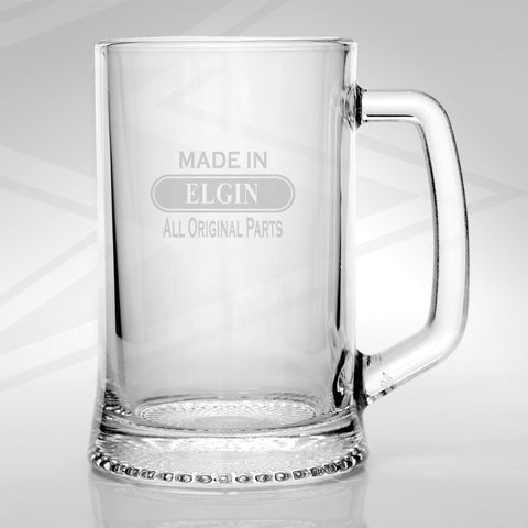 Elgin Glass Tankard Engraved Made in Elgin All Original Parts