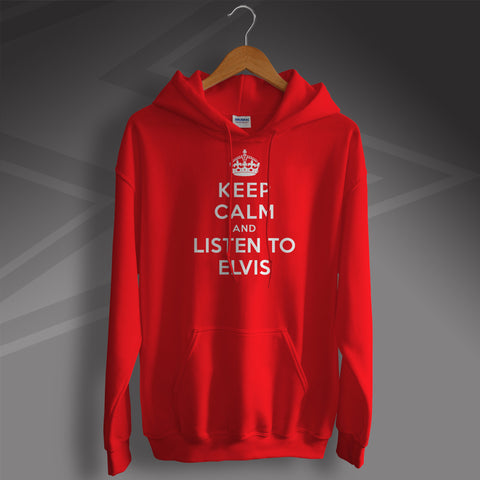 Elvis Presley Hoodie with Keep Calm Design