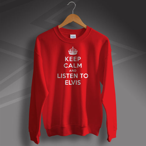 Elvis Presley Sweatshirt with Keep Calm Design