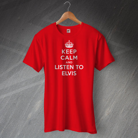 Elvis Presley T-Shirt with Keep Calm Design