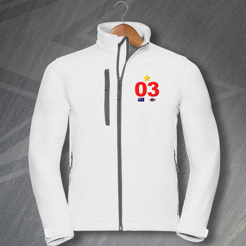 England Rugby Jacket Embroidered Softshell 03