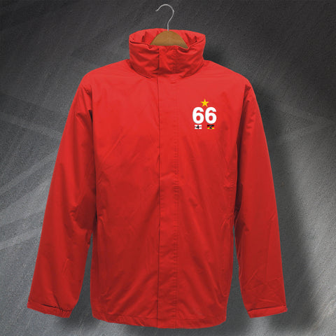 England Football Jacket Embroidered Waterproof 66