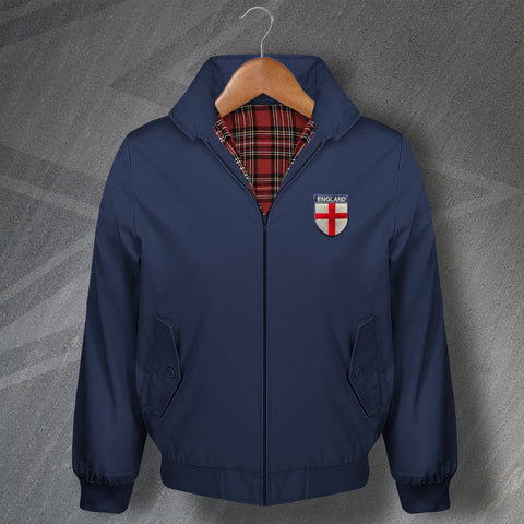England Harrington Jacket Embroidered Flag of England Shield