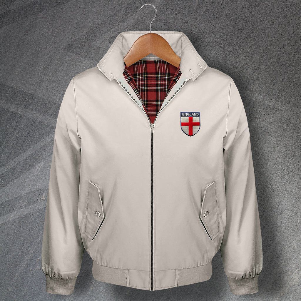 Retro England Classic Harrington Jacket with Embroidered Badge