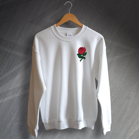 England Rugby Sweatshirt Embroidered