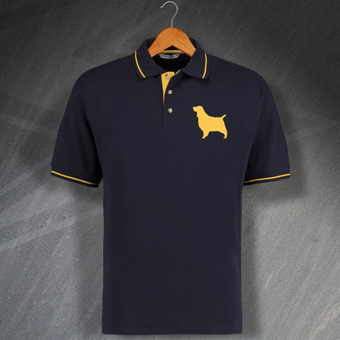 English Springer Spaniel Polo Shirt Embroidered Contrast