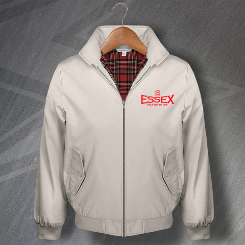 Essex Cricket Harrington Jacket Embroidered Essex It's a Way of Life