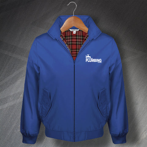Plumber Harrington Jacket Embroidered Established Plumbing Legend
