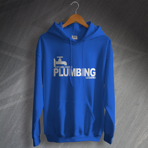 Plumber Hoodie Established Plumbing Legend