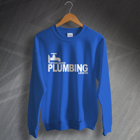 Plumber Sweatshirt Established Plumbing Legend
