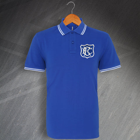 Everton Football Polo Shirt Embroidered Tipped 1920
