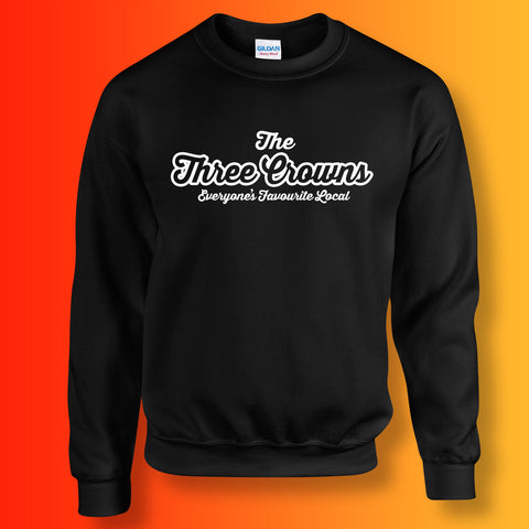 Three Crowns Everyone's Favourite Local Sweater Black