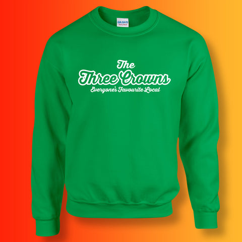 Three Crowns Everyone's Favourite Local Sweater Irish Green