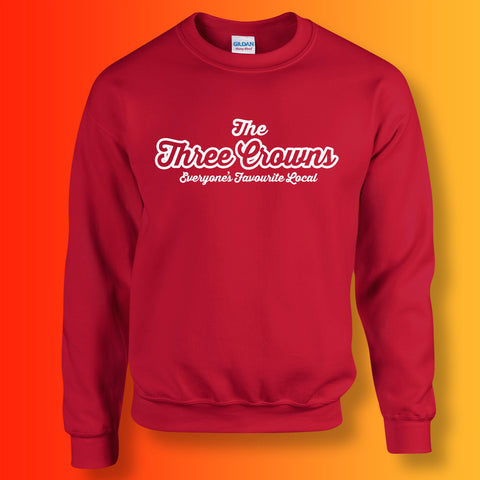 Three Crowns Everyone's Favourite Local Sweater Red