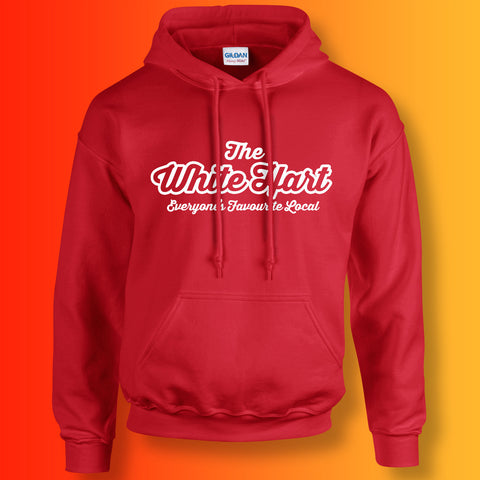 The White Hart Everyone's Favourite Local Hoodie Red