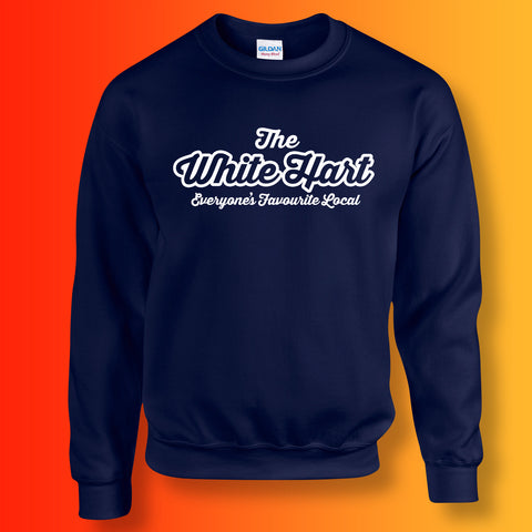 White Hart Everyone's Favourite Local Sweater Navy
