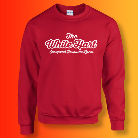 White Hart Everyone's Favourite Local Sweater Red