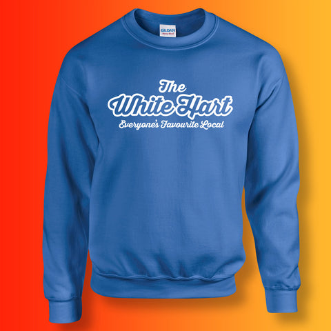 White Hart Everyone's Favourite Local Sweater Royal